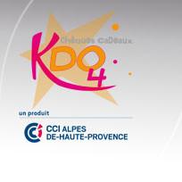 Chèques cadeaux KDO4 avec la CCI 04