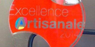 Trophée remis lors de la 4ème édition de l'Excellence artisanale le 13 octobre 2014