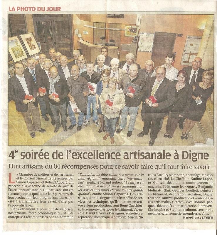 La Provence, article du mardi 14 novembre 2014