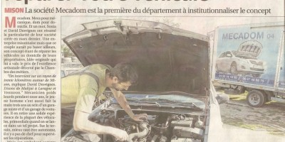 Article de La Provence du 30 octobre 2014