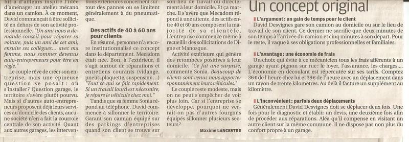 L'Excellence artisanale 2014, un article dans La Provence et après ?